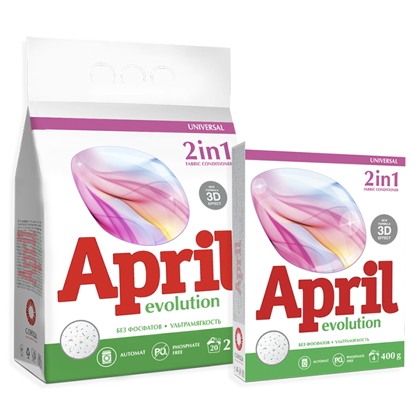April Evolution 2 in 1 with fabric conditioner